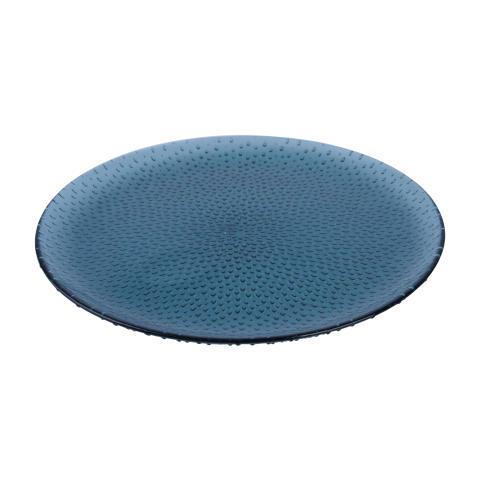 aida - RAW glass beads, rundt fad, blå, D 34,5 cm, H 1,5 cm, vejl. pris 149,- DKK