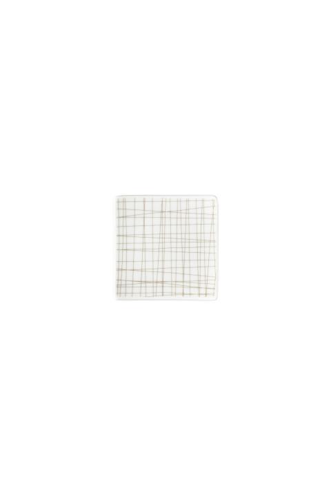 R_Mesh_Line Walnut_Plate 9 cm square flat