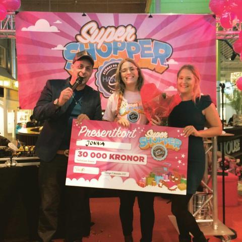 Vinnaren i Haninge Centrums Super Shopper