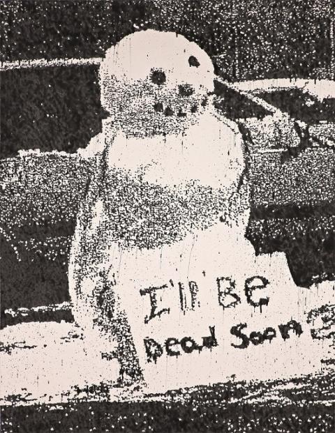 Nate Lowman, We'll be Dead Soon, 2011