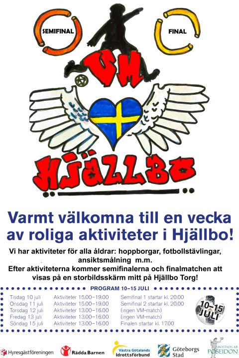 VM-festen fortsätter på torget i Hjällbo