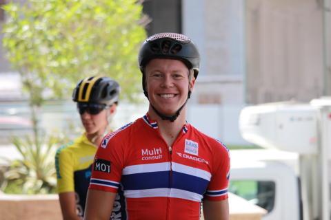 Fridjof Røinås under sykkel-VM i Doha 2016