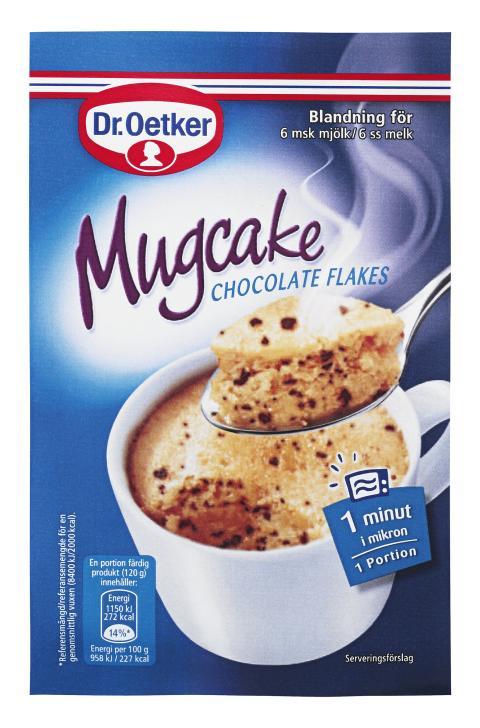 Mugcake chocolate flakes