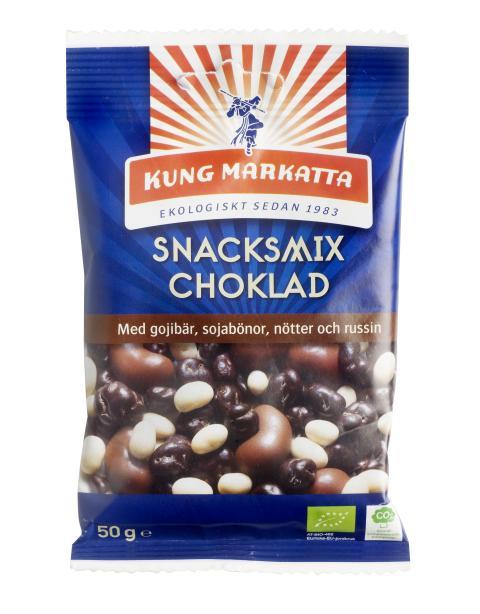 Snacksmix Choklad med gojibär, sojabönor och nötter