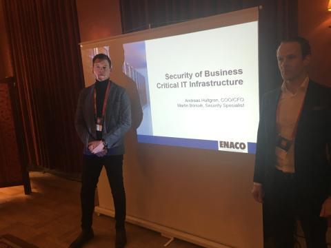 ENACO's säkerhetsspecialister håller uppskattat föredrag på DI Datacenter