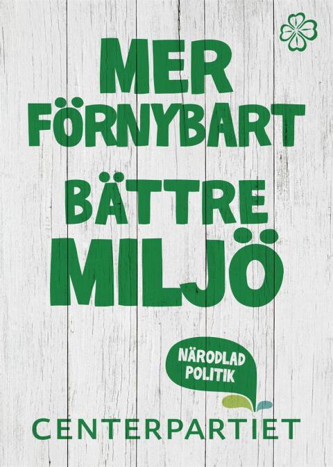 Centerpartiet valspurtar som Alliansens gröna röst