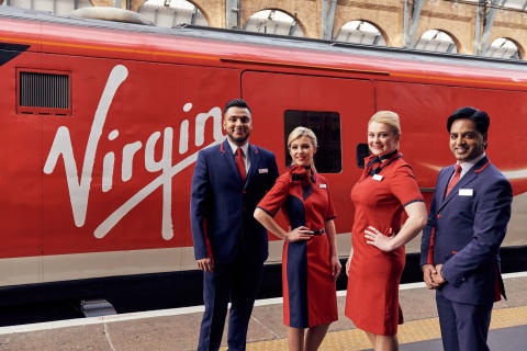 Virgin Trains staff show off the new body-neutral uniform range for every gender, size and shape across both the East and West Coast