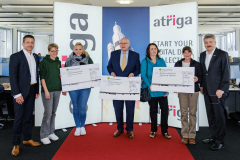 atriga Eröffnung Contact Center/Spendenübergabe