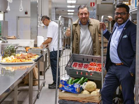 Grönsakshallen Sorunda skippar plasten tillsammans med Nordic Choice Hotels