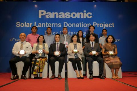 Panasonic Donates 3,060 Solar Lanterns to Humanitarian & Non-Governmental Organizations in Myanmar bringing Total Number of Donations to 14,924 throughout 5 Years