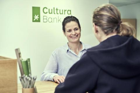 Resepsjonen i Cultura Bank 3