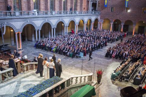 Stor fest för forskare i Blå hallen
