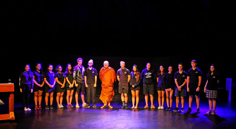 Ajahn Brahm with the environmental science students