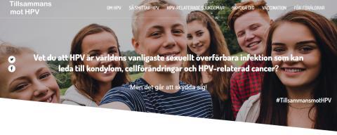 Tillsammans mot HPV: Ny informationssida om HPV