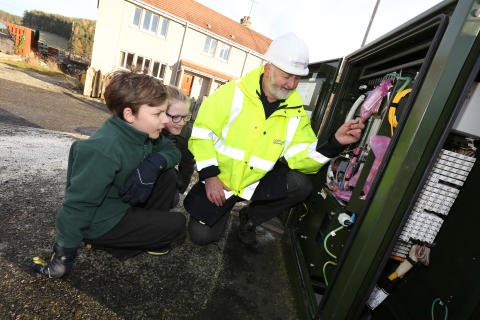 Kincardine O'Neil pupils get a lesson with fibre broadband