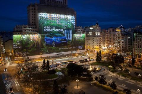 Ford EcoSport Billboard i Madrid