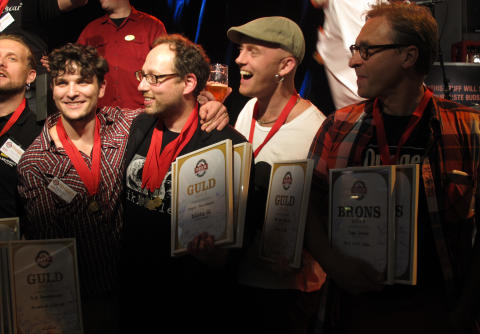 Efter avslutad prisutdelning på Stockholm Beer & Whisky Festival 2012