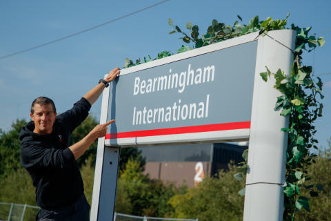 Bear Grylls unveils new name at Virgin Trains 'Bearmingham International' station