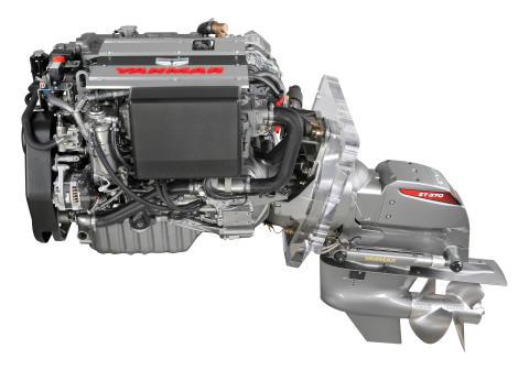Hi-res image - YANMAR - YANMAR marine diesel engine with ZT370 sterndrive