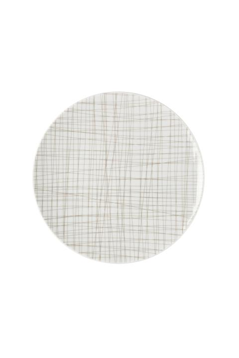 R_Mesh_Line Walnut_Plate 24 cm flat