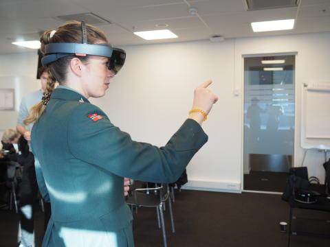 Krigsskolen innoverer med hologramteknologi