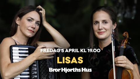 LISAS - hyllad duo spelar i Bror Hjorths ateljé