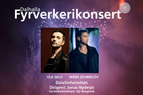Ola Salo och Måns Zelmerlöv klara för årets  Fyrverkerikonsert i Dalhalla!