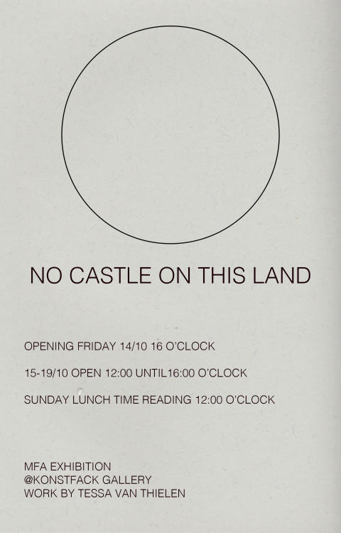 No Castle on This Land – tales of travels in Tessa Van Thielen's MFA Exhibition at Konstfack