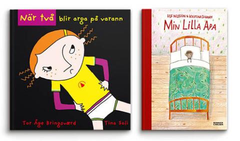 Fjärde veckan för BOK HAPPY MEAL  – under Läslovet med böcker av Ulf Nilsson/Kristina Digman och Tor Åge Bringsværd/Tina Soli