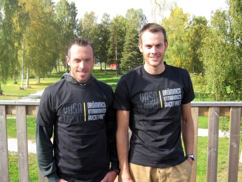 Bröderna Aukland invigde bro och marknadsför Vasaloppet i Norge
