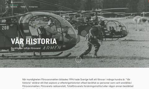 Försvarsmakten lyfter fram historia i ny webbsatsning
