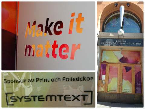 Systemtext adderar värde på Berghs School of Communications slututställning 2014