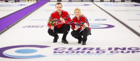 Kristin og Magnus Curling World Cup vinnere