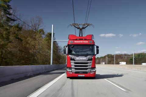Scania Hybrid Oberleitungs-Lkw