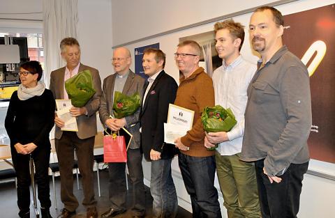 Vinnare av Malmö stads miljöpris 2012 tillsammans med prisutdelare från miljönämnden