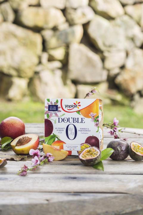 Yoplait Double 0% Fersken og Pasjonsfrukt