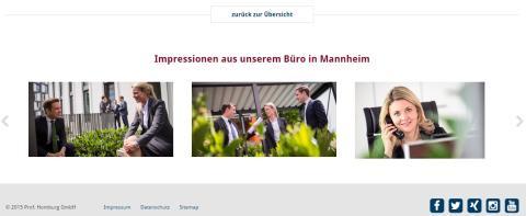 Neue Homepage von Homburg & Partner: Impressionen aus unserem Büro in Mannheim