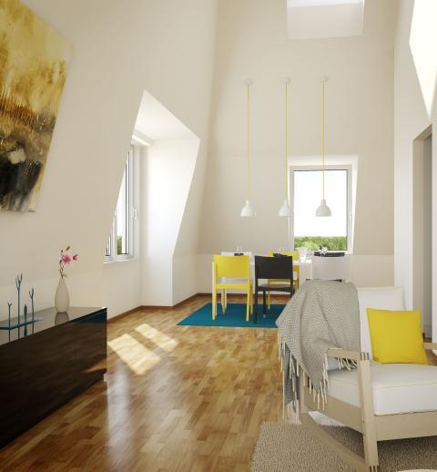 Interiörbild, lägenhet, Silverdals Kulle