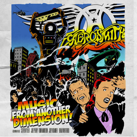 "Aerosmith omslag ""Music From Another Dimension"""