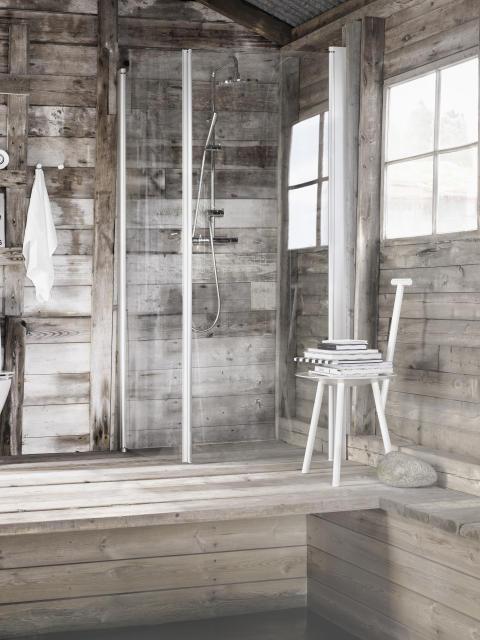 Enkelhet i badrummet med den nya stilrena duschväggserien Ifö Space