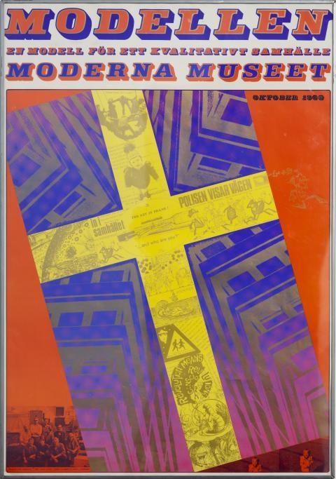 Sture Johannesson, Modellen. En modell för ett kvalitativt samhälle, 1968, affisch