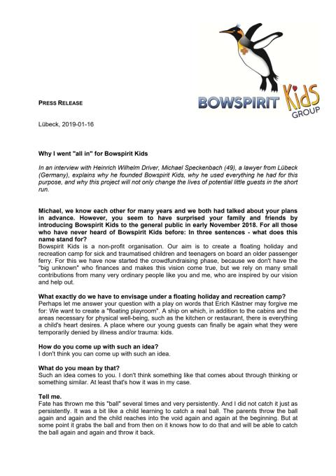 """Why I went """"all in"""" for Bowspirit Kids - full version"""
