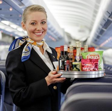 Vores favoritdrik på flyrejsen - vand!