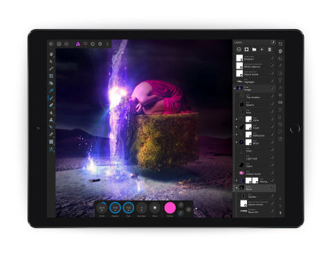 Affinity Photo for iPad unlimited layers