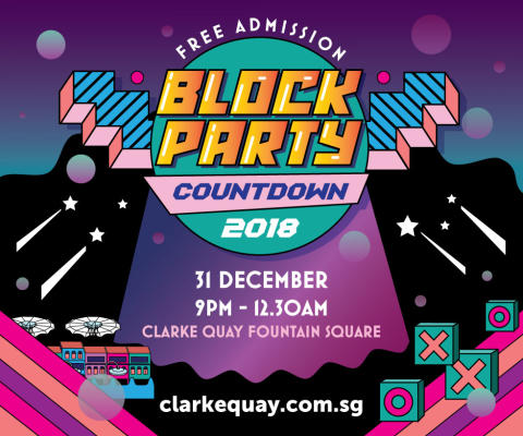 Clarke Quay to celebrate New Year's Eve Countdown with a Block Party