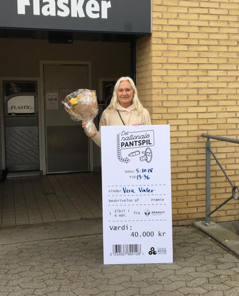 Pantede sig til en el-bil: Vera Vinter fra Ebeltoft er den sidste vinder i Det nationale Pantspil