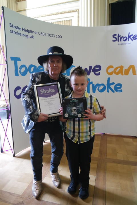 Seven year old Lincolnshire stroke survivor receives regional recognition