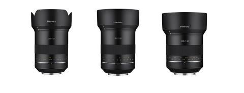 Samyang stellt drei neue Premium XP Objektive in 35, 50 und 85 mm für Canon EF vor