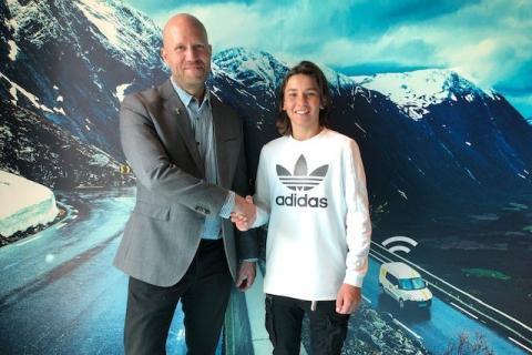 Sebastian Framdahl från Västerås blir utvald till globala sponsorprogrammet ABAX Talents