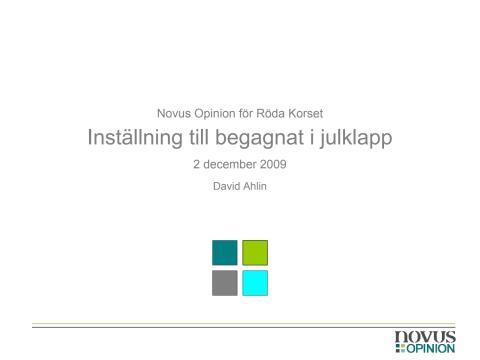 Enkät om second hand-julklappar 2009
